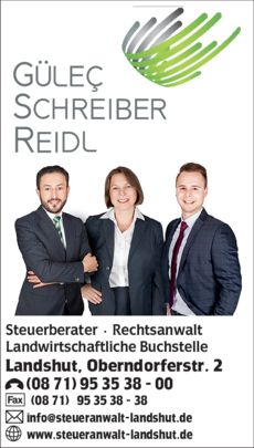 Anzeige Gülec & Schreiber Partnerschaftsgesellschaft mbB