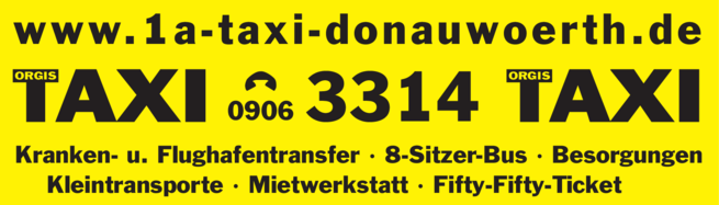 Anzeige 1a TAXI Donauwörth