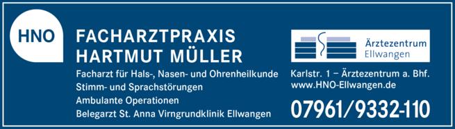 Anzeige Müller Hartmut