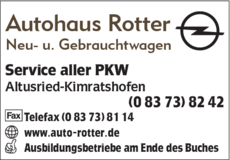 Anzeige Autohaus Rotter