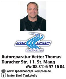 Anzeige Autoreparatur Vetter Thomas