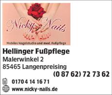 Anzeige Hellinger Fußpflege