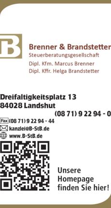 Anzeige Steuerberater Brenner & Brandstetter Dipl.-Kfm. , Marcus Brenner,Helga Brandstetter