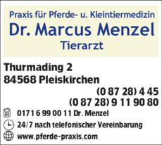Anzeige Tierarztpraxis Menzel Marcus