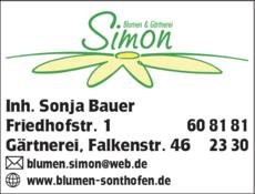 Anzeige Blumen Simon