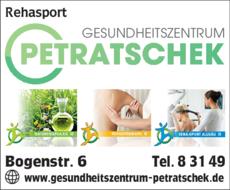 Anzeige Rehasport Gesundheitszentrum Petratschek