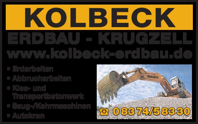 Anzeige Kolbeck Kies- und Transportbetonwerk