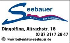 Anzeige Seebauer, Bettenhaus