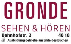 Anzeige GRONDE SEHEN & HÖREN