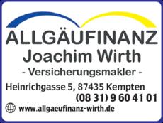 Anzeige Allgäufinanz Wirth Joachim