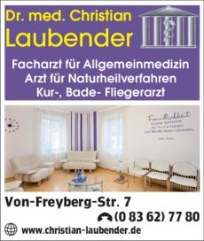 Anzeige Laubender Christian Dr.med.