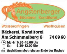 Anzeige Angstenberger Erwin