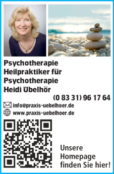 Anzeige Psychotherapie Übelhör Heidi