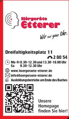 Anzeige Hörgeräte Etterer