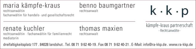 Anzeige Kämpfe-Kraus & Partner