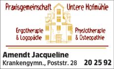 Anzeige Amendt Jacqueline