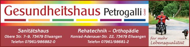 Anzeige Petrogalli Gesundheitshaus Sanitätshaus Orthopädietechnik