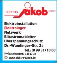 Anzeige Elektro - Jakob GmbH