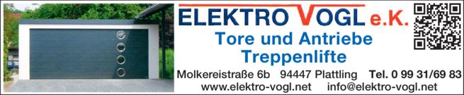 Anzeige Elektro Vogl e. K.