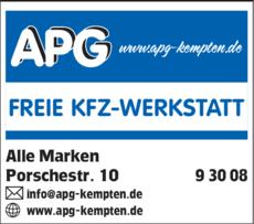 Anzeige APG Freie KFZ-Werkstatt