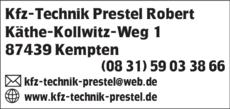 Anzeige Kfz-Technik Prestel
