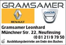 Anzeige Autohaus Gramsamer