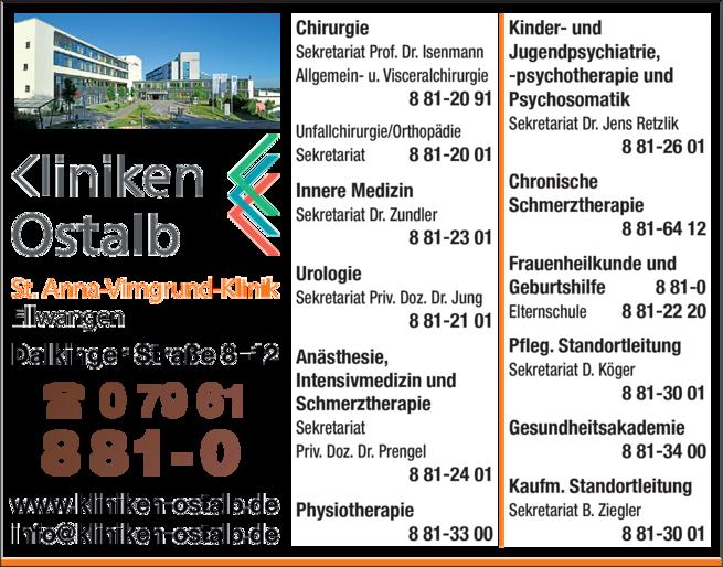 Anzeige St. Anna-Virngrund-Klinik