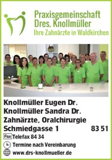 Anzeige Knollmüller Eugen Dr.