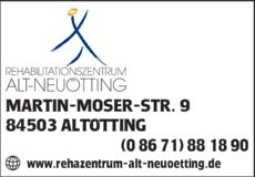 Anzeige REHA-Zentrum Alt-Neuötting