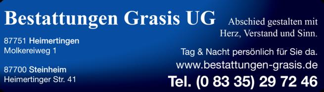 Anzeige Bestattungen Grasis