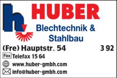 Anzeige Huber Blechtechnik