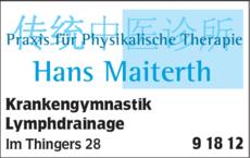 Anzeige Krankengymnastik Maiterth