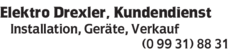 Anzeige Elektro Drexler