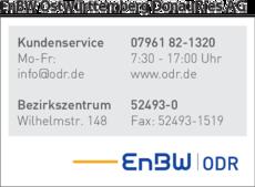 Anzeige EnBW Ostwürttemberg DonauRies AG ODR