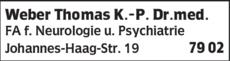 Anzeige Weber Thomas K.-P. Dr.med.