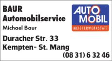 Anzeige Auto Baur