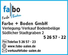 Anzeige fabo Farbe + Boden GmbH
