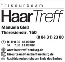 Anzeige Friseurteam HaarTreff
