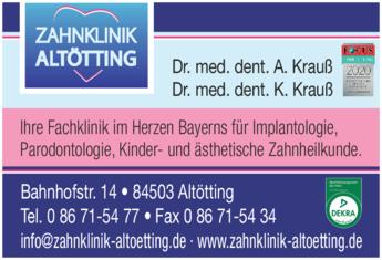 Anzeige Zahnklinik Altötting - Krauß Alexander u. Katharina Dres.med.dent.