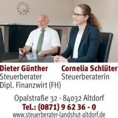 Anzeige Günther & Schlüter, Steuerkanzlei