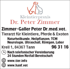 Anzeige Zimmer-Galler Peter Dr.med.vet.
