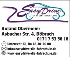 Anzeige Fahrschule Easy Drive - Die Fahrschule