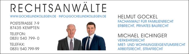 Anzeige Gockel Rechtsanwälte
