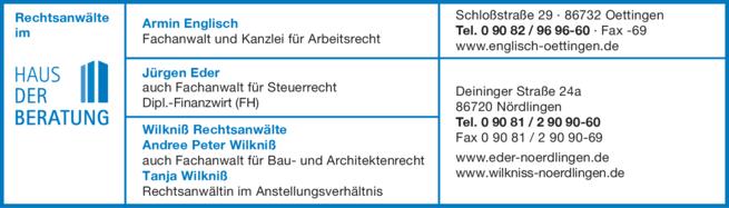 Haus Der Beratung Englisch Armin Eder In Oettingen In Das örtliche