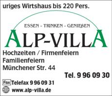 Anzeige Alp-Villa