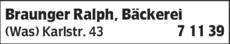 Anzeige Braunger Ralph
