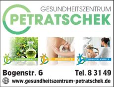 Anzeige Gesundheitszentrum Petratschek