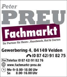 Anzeige Werkmarkt Preu Peter