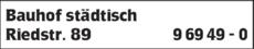 Anzeige Bauhof städtisch