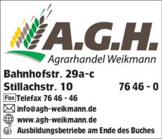 Anzeige A G H Agrarhandelsgesellschaft mbH